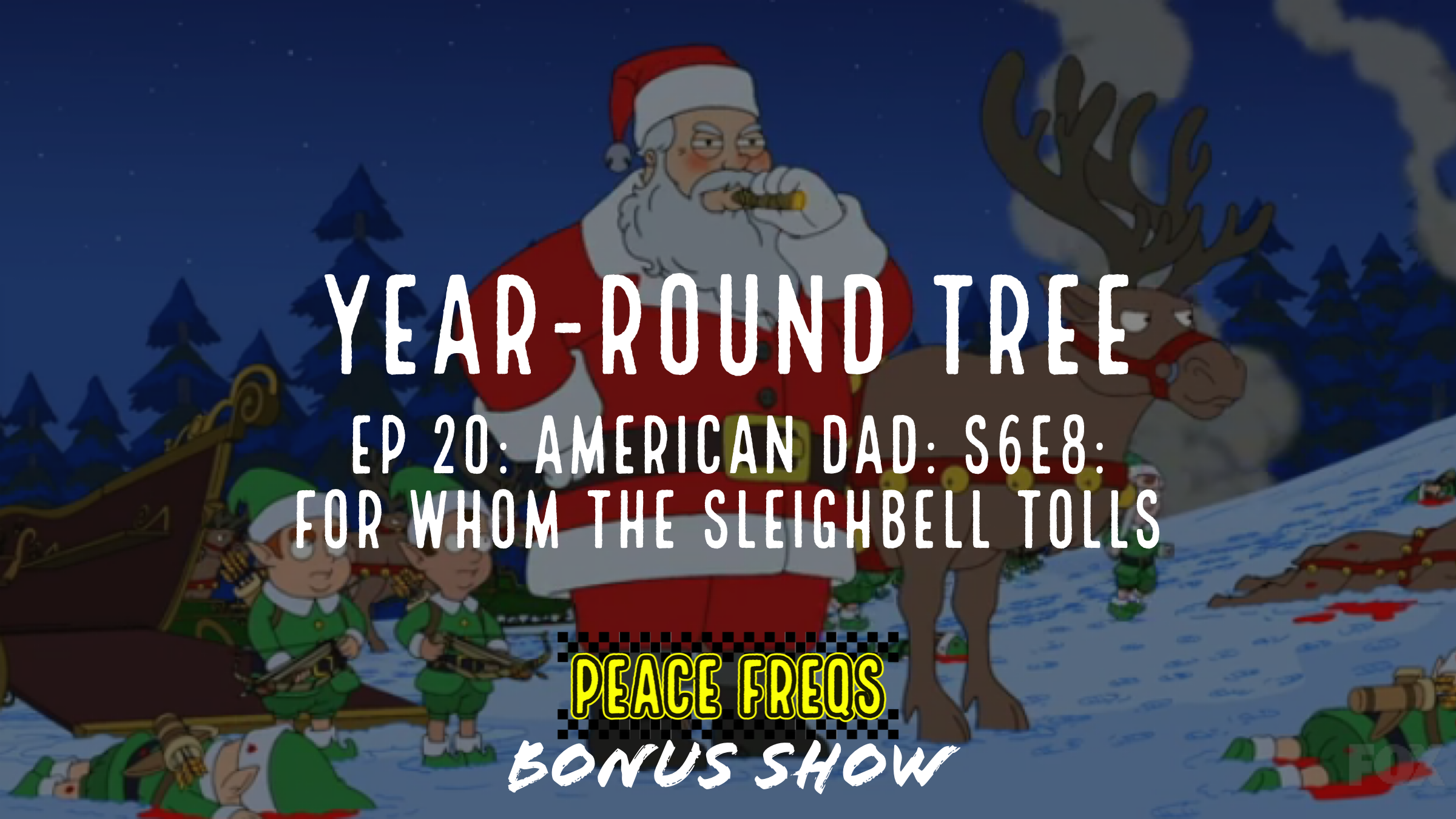 American Dad: S6E8: For Whom The Sleighbell Tolls Review - Year-Round Tree 020 Title Card